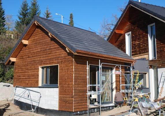 Extension maison ossature bois 1555 bassens chambery for Extension maison 79